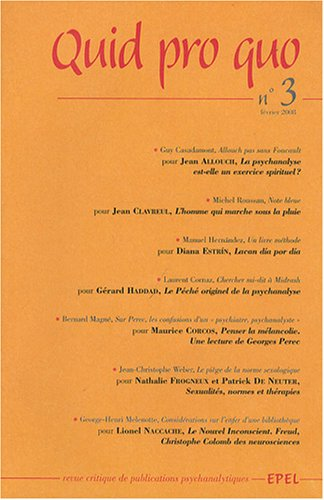 9782908855975: Quid pro quo, N° 3, Février 2008 (French Edition)