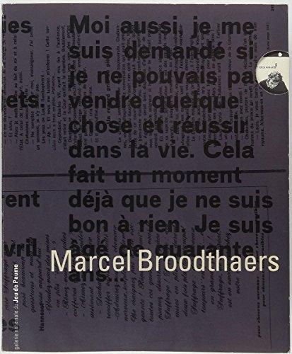 Marcel Broodthaers .: Galerie Nationale du Jeu de Paume (Hg.):