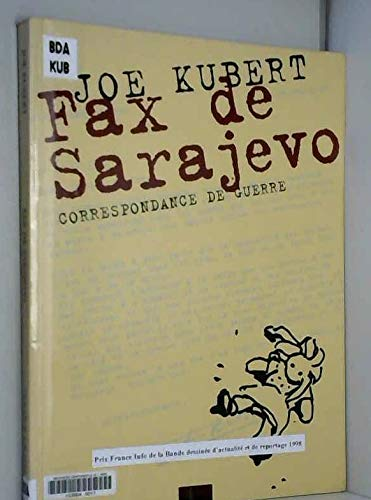 9782908981285: Fax de Sarajevo : Correspondance de guerre [de Ervin Rustemagic]