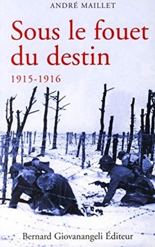 9782909034881: Sous le fouet du destin : Histoire d'une âme aux jours héroïques 1915-1916: 0