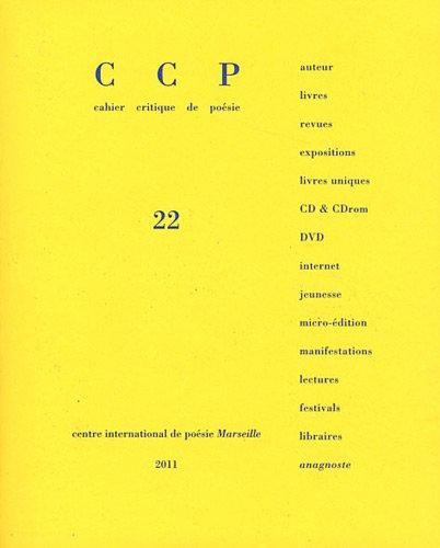 9782909097923: Cahier critique de po�sie