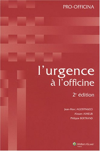 9782909179599: L'urgence à l'officine (French Edition)