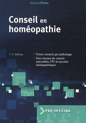 9782909179728: conseil en homéopathie (2e édition)