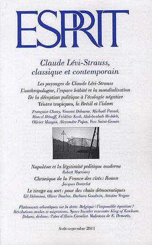 9782909210995: Esprit, N° 377, août-septemb : Claude Lévi-Strauss, classique et contemporain