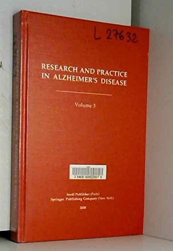 9782909342856: Research and Practice in Alzheimer's Disease. Volume 3.