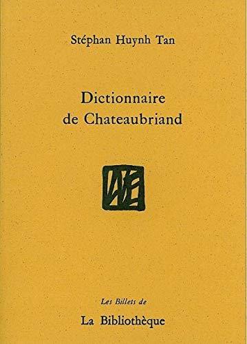 9782909688282: Dictionnaire de Chateaubriand