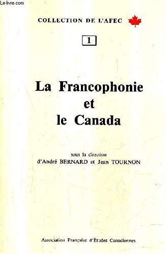 9782909708003: La francophonie et le Canada, num�ro 1