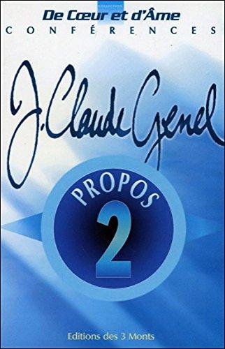 Propos: Jean-Claude Genel
