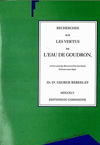 9782909781181: recherches sur les vertus de l'eau de goudron