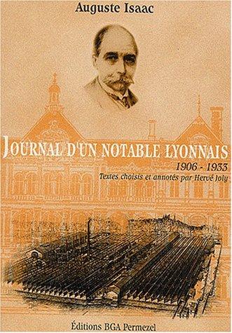 9782909929170: Journal d'un notable lyonnais 1906-1933