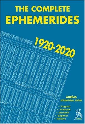 9782910049027: Complete Ephemerides 1920-2020