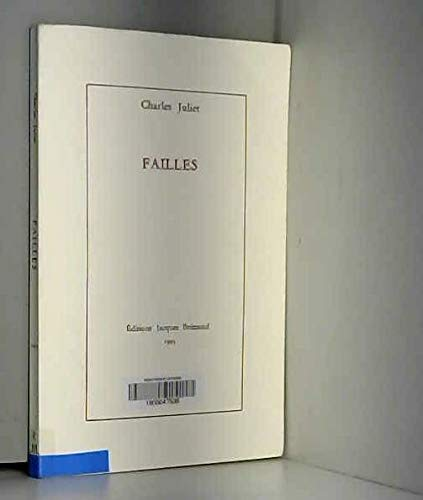 Failles, 1993 (2910063003) by Charles Juliet, Serge Velay