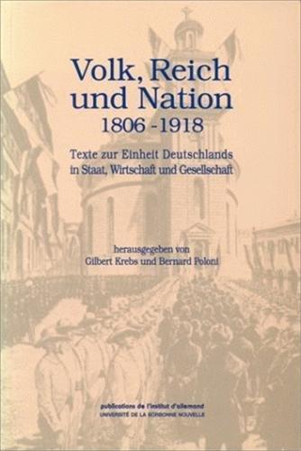 Dokumente zur deutschen Geschichte und Kultur : Gilbert Krebs; Bernard