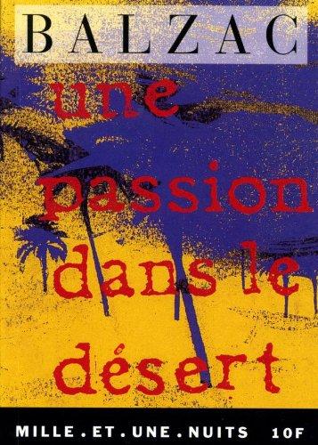 9782910233433: Une passion dans le désert