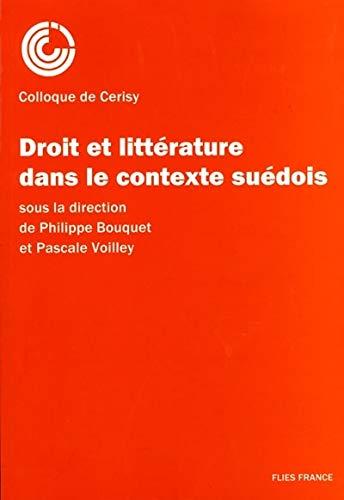 9782910272067: Droit et Litterature Contexte Suedois