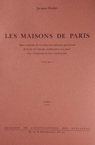 Maisons de Paris (3 volumes): Fredet Jacques