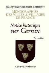 9782910487027: Carnin (Notice Historique Sur)