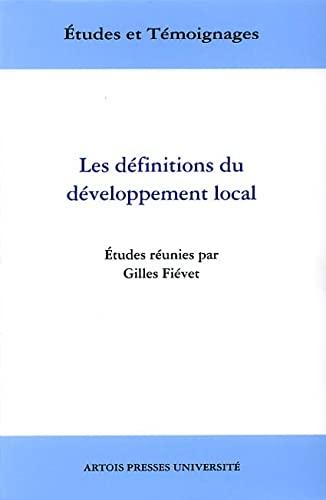 9782910663735: Les définitions du développement local