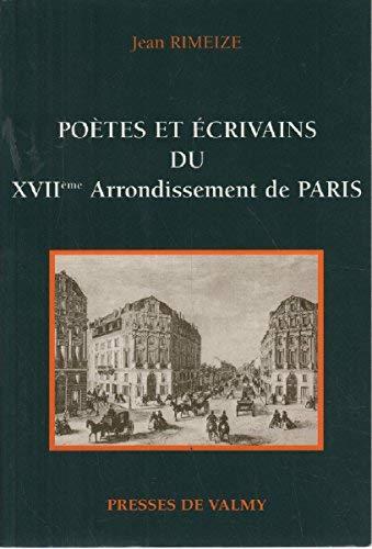 Poètes et écrivains du XVII° Arrondissement de: RIMEIZE JEAN
