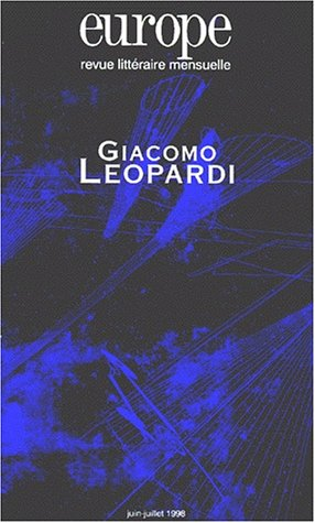 9782910814311: Giacomo Léopardi, numéro 830-831