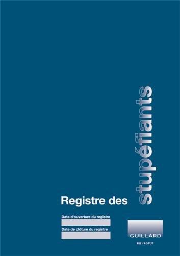 9782910833244: Registre comptable des stupéfiants en pharmacie