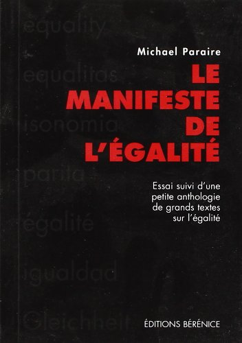 9782911232619: Le manifeste de l'�galit�