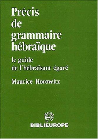9782911398032: Précis de grammaire hébraïque. : Le guide de l'hébraïsant égaré
