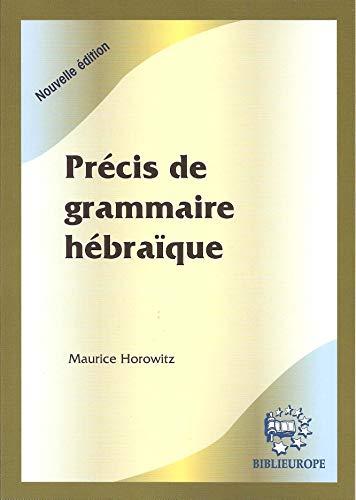 9782911398988: Précis de grammaire hébraïque : Le guide de l'hébraïsant égaré
