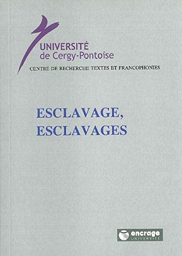 9782911576874: Esclavage, esclavages (French Edition)