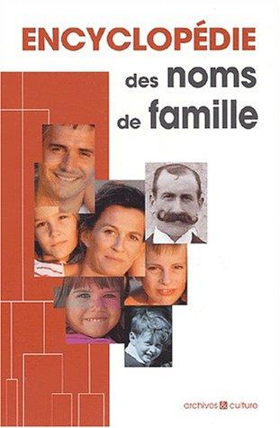 9782911665622: Encyclop�die des noms de famille