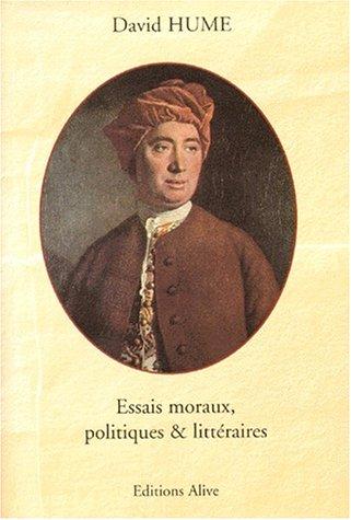 9782911737107: Essais moraux, littéraires & politiques