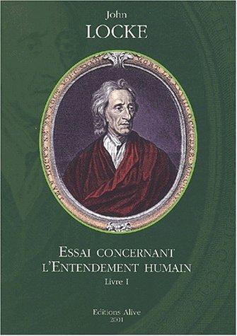 9782911737206: Essai concernant l'Entendement humain, tome 1
