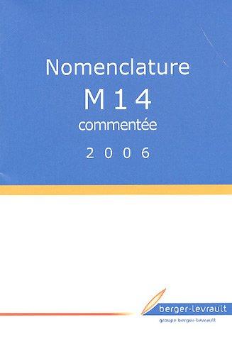 9782911766008: Nomenclature M14 commentée