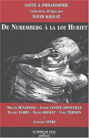 De Nuremberg a la loi Huriet: Collectif