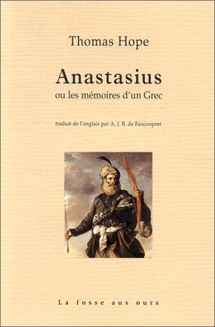 9782912042101: Anastasius ou les m�moires d'un grec