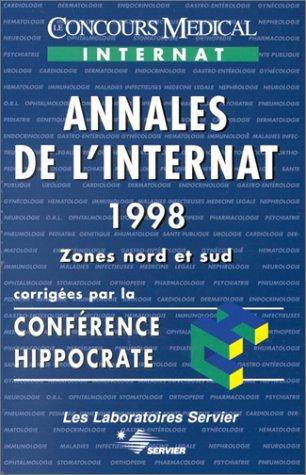 9782912176493: ANNALES DE L'INTERNAT 1998. : Zones nord et sud