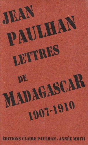 9782912222251: Lettres de Madagascar: 1907-1910