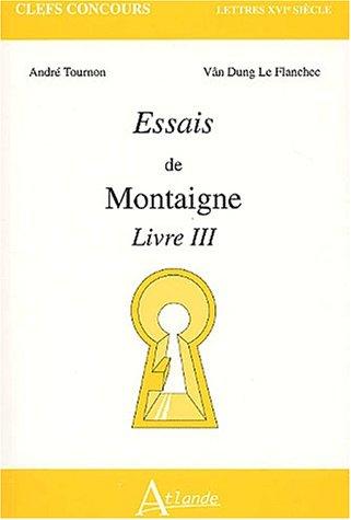 9782912232434: Essais de Montaigne. Livre III