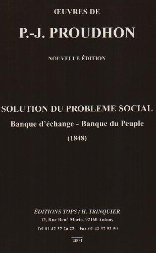 9782912339232: Solution du probl�me social
