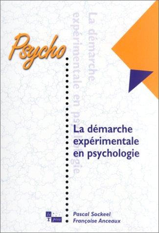 9782912404831: La démarche expérimentale en psychologie