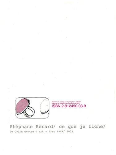 9782912450036: Stéphane Bérard