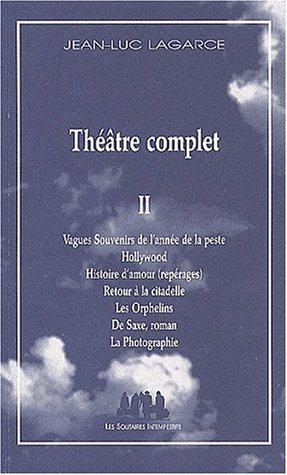 9782912464781: theatre complet vol.ii