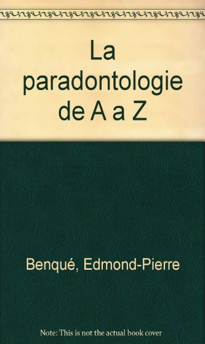 9782912550293: La paradontologie de A a Z