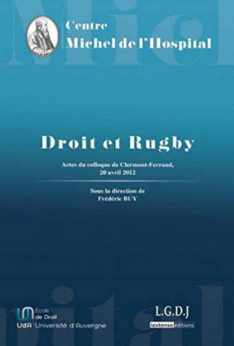 Droit et rugby (French Edition): Buy Fr�©d�©ric