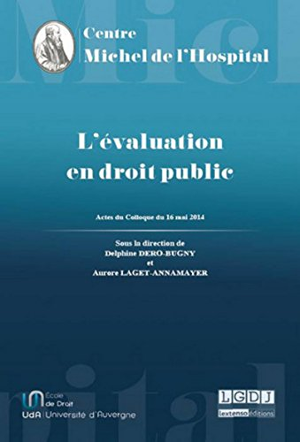 9782912589446: L'Evaluation en droit public