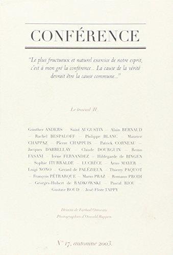 Conférence n° 16 printemps 2003: Revue