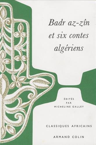 9782912839121: Bard az-zin et six contes algeriens