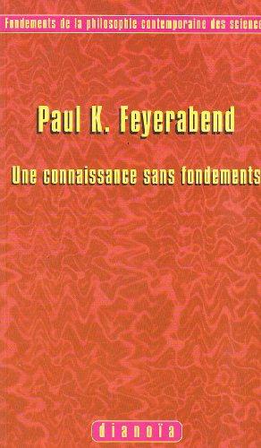 9782913126008: Une connaissance sans fondements: Introduction, traduction, notes, bibliographie et index par Emmanuel Malolo Dissak�