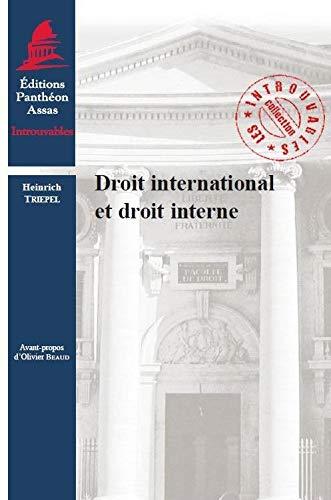 droit international et droit interne: Heinrich Triepel
