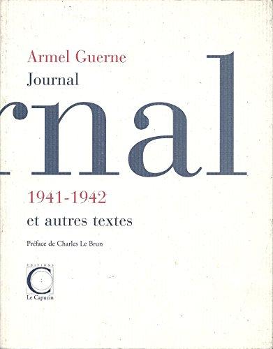 9782913493131: Journal 1941-1942 et autres textes